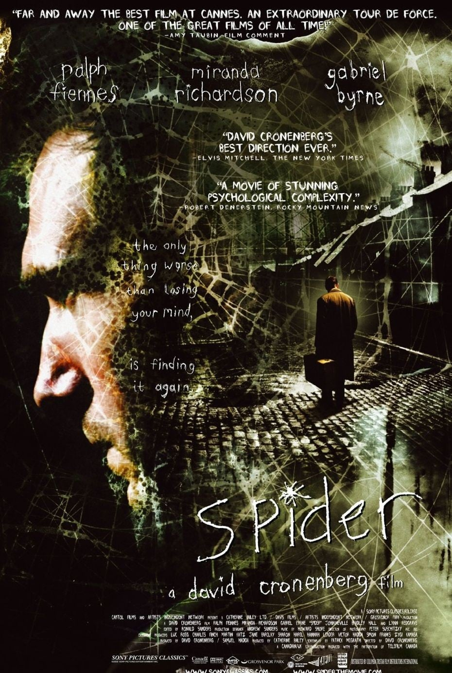 "Poster for the movie ""Spider - Desafie Sua Mente"""