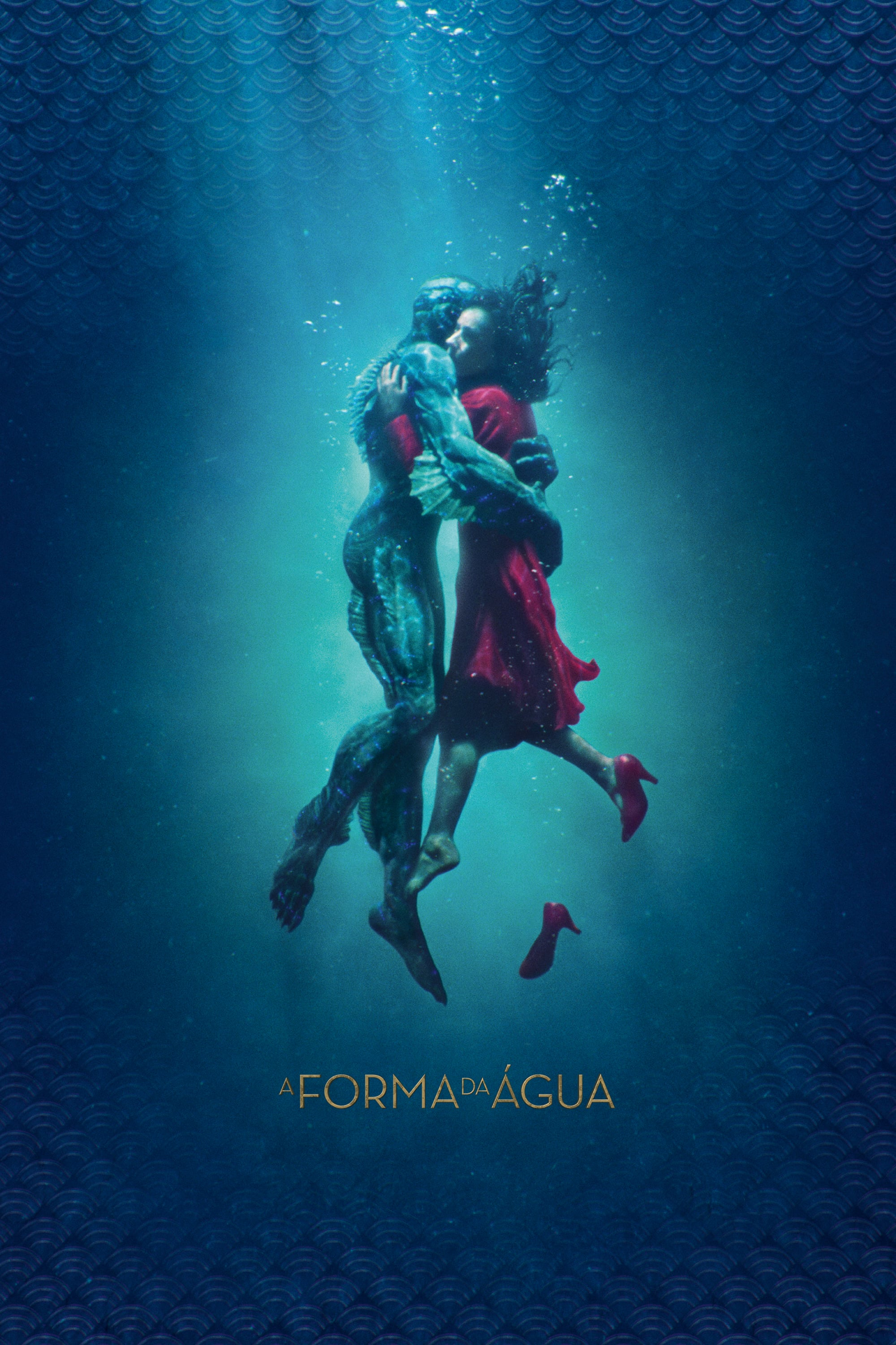 "Poster for the movie ""A Forma da Água"""
