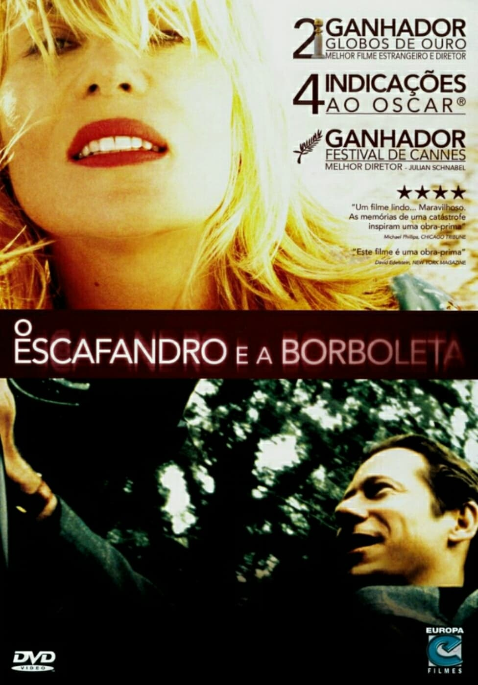 "Poster for the movie ""O Escafandro e a Borboleta"""