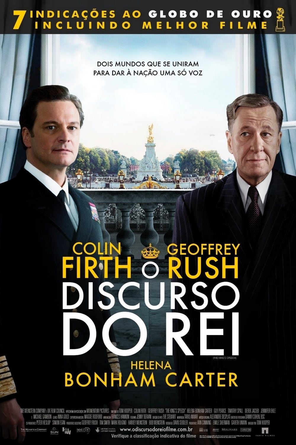 "Poster for the movie ""O Discurso do Rei"""