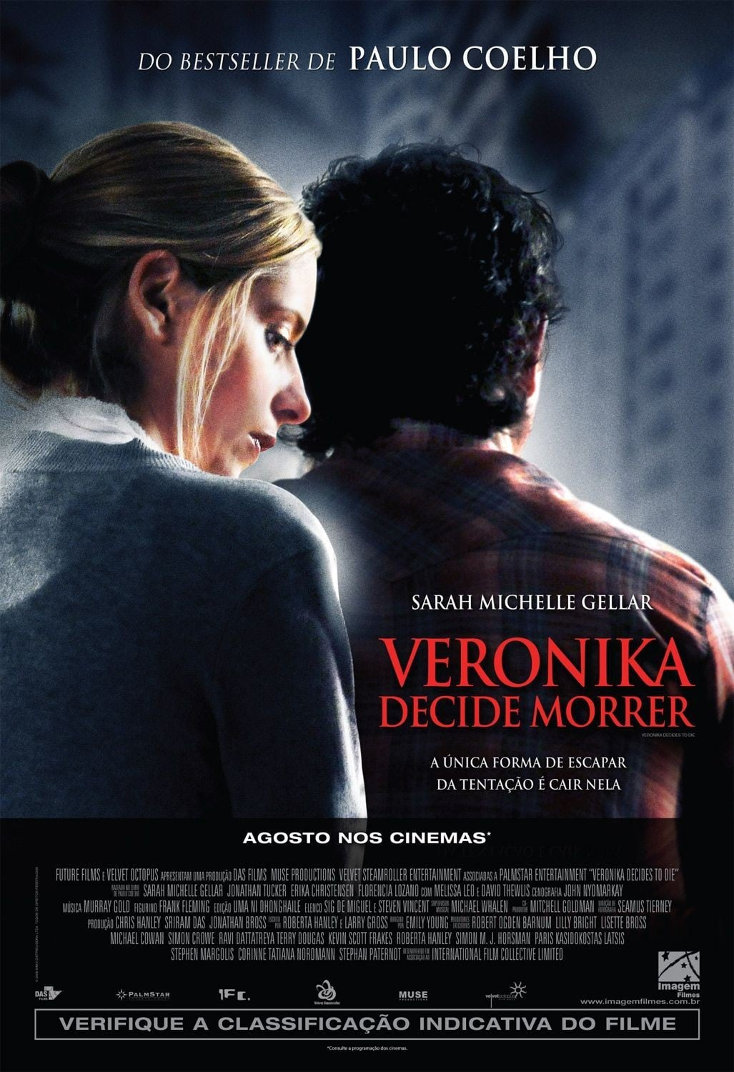 "Poster for the movie ""Veronika Decide Morrer"""