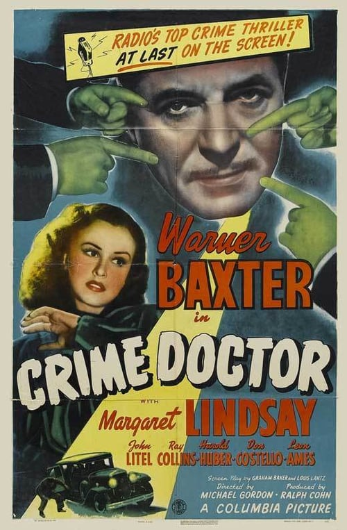"Poster for the movie ""Crime Doctor"""