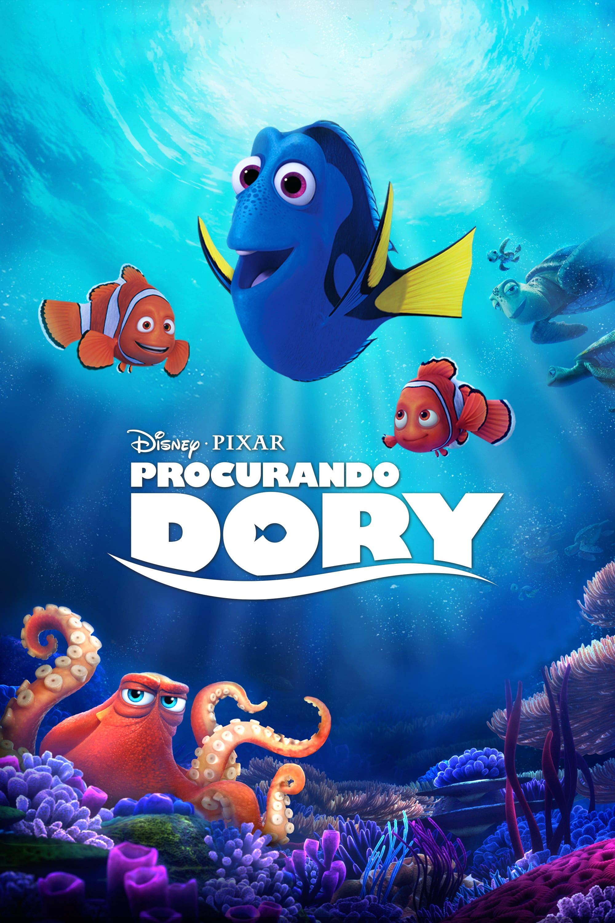 "Poster for the movie ""À Procura de Dory"""