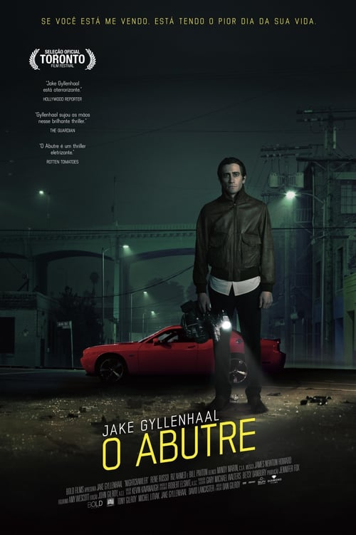 "Poster for the movie ""Nightcrawler - Repórter na Noite"""