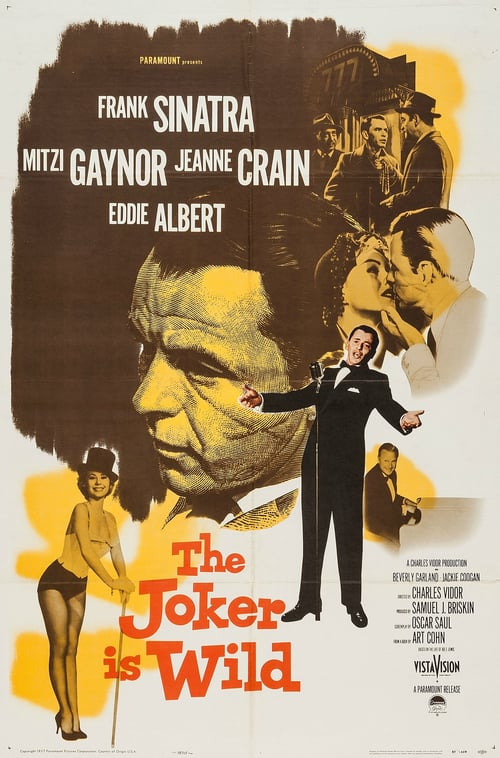 "Poster for the movie ""The Joker Is Wild"""