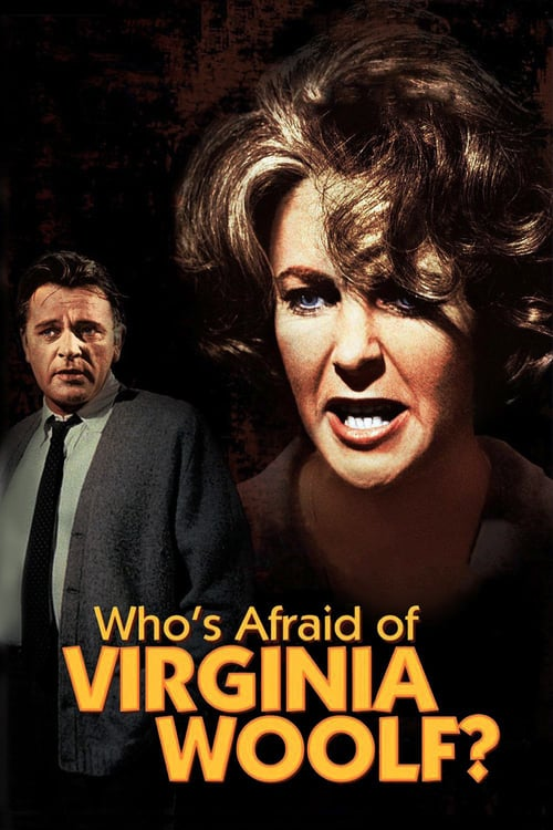 "Poster for the movie ""Quem Tem Medo de Virginia Woolf?"""
