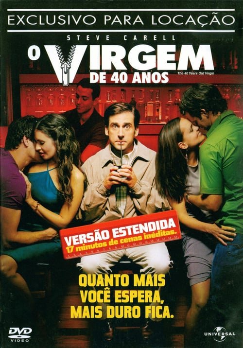 "Poster for the movie ""O Virgem de 40 Anos"""
