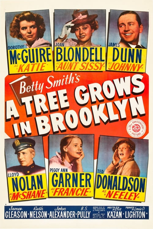 "Poster for the movie ""A Tree Grows in Brooklyn"""