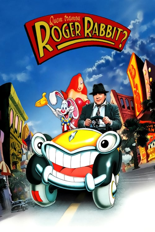 "Poster for the movie ""Quem Tramou Roger Rabbit?"""