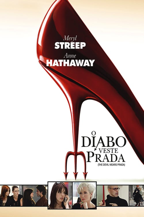 "Poster for the movie ""O Diabo Veste Prada"""
