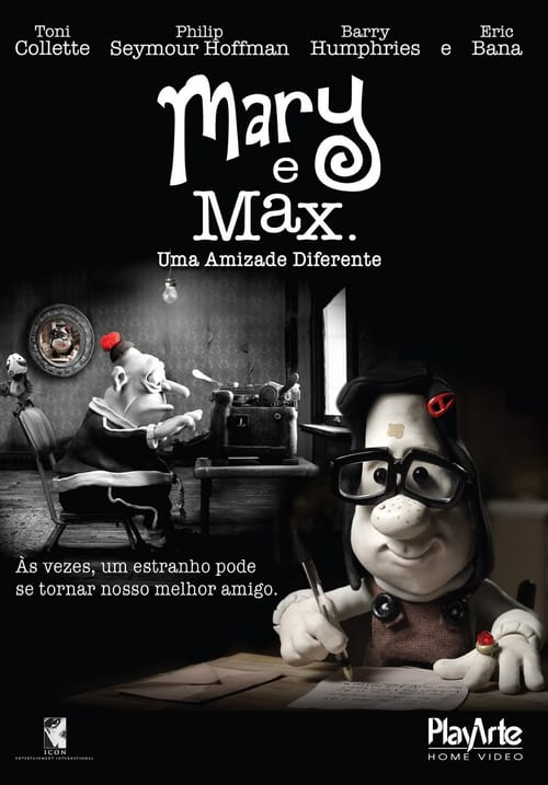 "Poster for the movie ""Mary e Max, Uma Amizade Diferente"""